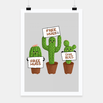 Thumbnail image of free Hugs Cactus Poster, Live Heroes