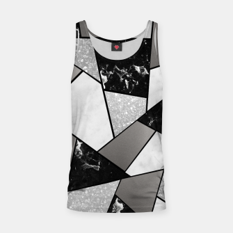 Thumbnail image of Black White Silver Geometric Glam #1 #geo #decor #art Muskelshirt , Live Heroes