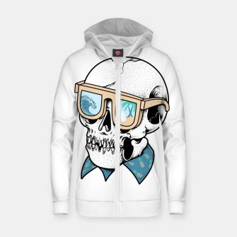 Skull holiday Zip up hoodie imagen en miniatura