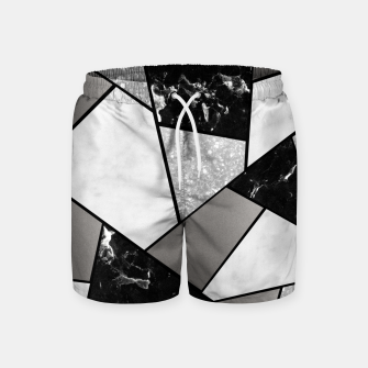 Thumbnail image of Black White Silver Geometric Glam #1 #geo #decor #art Badeshorts, Live Heroes