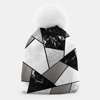 Thumbnail image of Black White Silver Geometric Glam #1 #geo #decor #art Mütze, Live Heroes