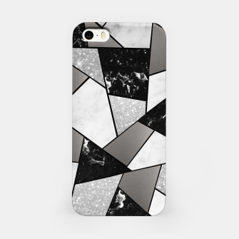 Miniatur Black White Silver Geometric Glam #1 #geo #decor #art iPhone-Hülle, Live Heroes