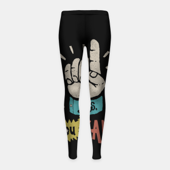 Miniatur Yes, You Can! Girl's leggings, Live Heroes