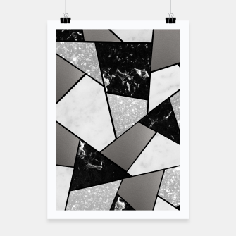 Thumbnail image of Black White Silver Geometric Glam #1 #geo #decor #art Plakat, Live Heroes