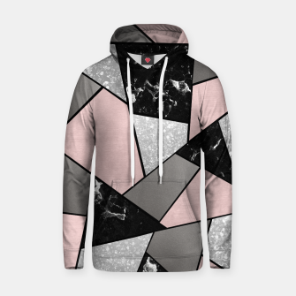 Black White Silver Blush Geometric Glam #1 #geo #decor #art Kapuzenpullover Bild der Miniatur