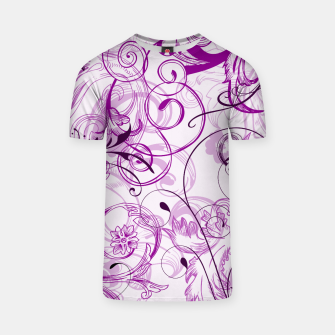Thumbnail image of floral ornaments pattern dei T-shirt, Live Heroes