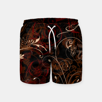 Thumbnail image of floral ornaments pattern bco Swim Shorts, Live Heroes