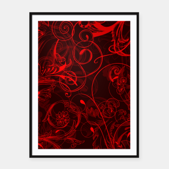 Thumbnail image of floral ornaments pattern ch Framed poster, Live Heroes