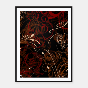 Thumbnail image of floral ornaments pattern bco Framed poster, Live Heroes