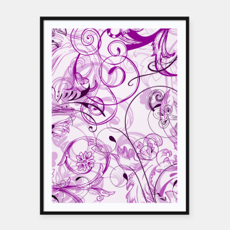 Thumbnail image of floral ornaments pattern dei Framed poster, Live Heroes