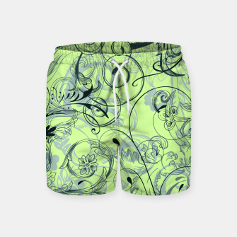 Thumbnail image of floral ornaments pattern lvoi Swim Shorts, Live Heroes
