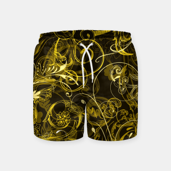 Thumbnail image of floral ornaments pattern dy Swim Shorts, Live Heroes
