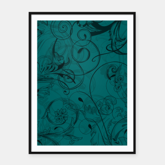 Thumbnail image of floral ornaments pattern pwi Framed poster, Live Heroes