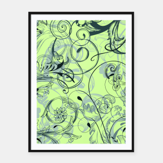 Thumbnail image of floral ornaments pattern lvoi Framed poster, Live Heroes