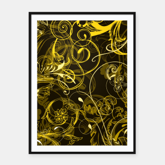 Thumbnail image of floral ornaments pattern dy Framed poster, Live Heroes