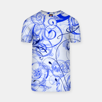 Thumbnail image of floral ornaments pattern dyi T-shirt, Live Heroes