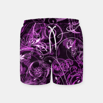 Thumbnail image of floral ornaments pattern mag Swim Shorts, Live Heroes
