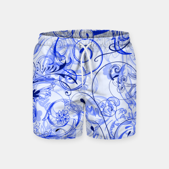 Thumbnail image of floral ornaments pattern dyi Swim Shorts, Live Heroes