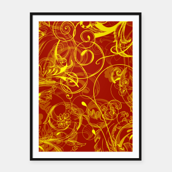 Thumbnail image of floral ornaments pattern ry Framed poster, Live Heroes