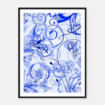 Thumbnail image of floral ornaments pattern dyi Framed poster, Live Heroes