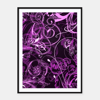 Thumbnail image of floral ornaments pattern mag Framed poster, Live Heroes