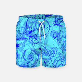 Thumbnail image of floral ornaments pattern ryi Swim Shorts, Live Heroes