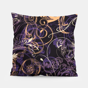 Thumbnail image of floral ornaments pattern ls Pillow, Live Heroes