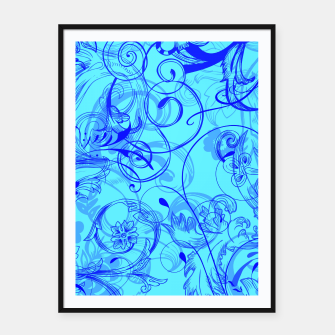 Thumbnail image of floral ornaments pattern ryi Framed poster, Live Heroes