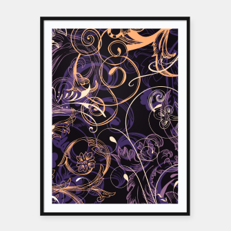 Thumbnail image of floral ornaments pattern ls Framed poster, Live Heroes