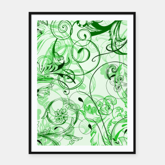 Thumbnail image of floral ornaments pattern magi Framed poster, Live Heroes