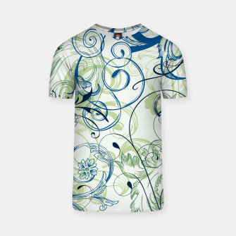 Thumbnail image of floral ornaments pattern lsi T-shirt, Live Heroes