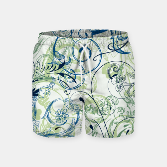 Thumbnail image of floral ornaments pattern lsi Swim Shorts, Live Heroes