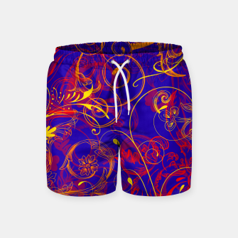 Thumbnail image of floral ornaments pattern nbry Swim Shorts, Live Heroes