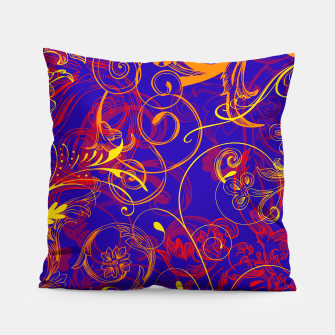 Thumbnail image of floral ornaments pattern nbry Pillow, Live Heroes