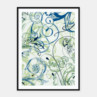 Thumbnail image of floral ornaments pattern lsi Framed poster, Live Heroes