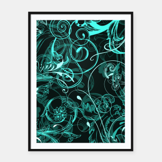 Thumbnail image of floral ornaments pattern uw Framed poster, Live Heroes
