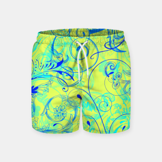Thumbnail image of floral ornaments pattern nbryi Swim Shorts, Live Heroes