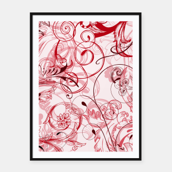 Thumbnail image of floral ornaments pattern uwi Framed poster, Live Heroes