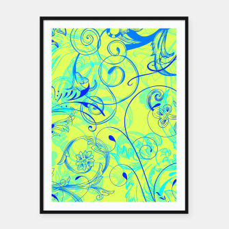 Thumbnail image of floral ornaments pattern nbryi Framed poster, Live Heroes