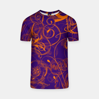 Thumbnail image of floral ornaments pattern vo T-shirt, Live Heroes