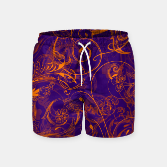 Thumbnail image of floral ornaments pattern vo Swim Shorts, Live Heroes