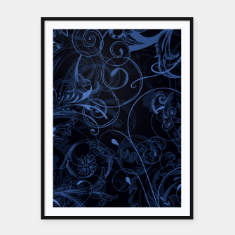 Thumbnail image of floral ornaments pattern nfd Framed poster, Live Heroes