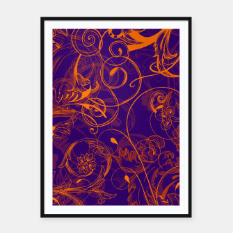 Thumbnail image of floral ornaments pattern vo Framed poster, Live Heroes