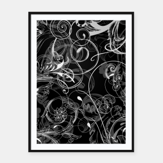 Thumbnail image of floral ornaments pattern bl Framed poster, Live Heroes