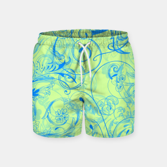 Thumbnail image of floral ornaments pattern voi Swim Shorts, Live Heroes