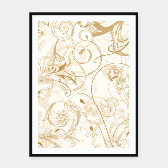 Thumbnail image of floral ornaments pattern nfdi Framed poster, Live Heroes