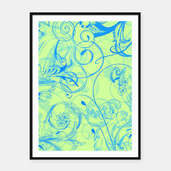 Thumbnail image of floral ornaments pattern voi Framed poster, Live Heroes