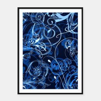 Thumbnail image of floral ornaments pattern c82 Framed poster, Live Heroes