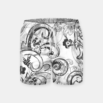 Thumbnail image of floral ornaments pattern wh Swim Shorts, Live Heroes