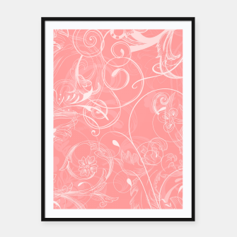 Thumbnail image of floral ornaments pattern pw Framed poster, Live Heroes